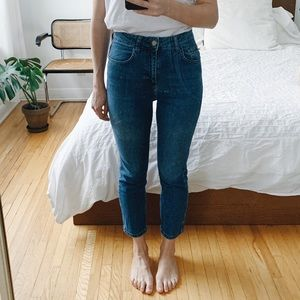 High Waist Slim Crop Jeans